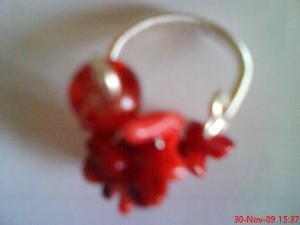 Inel coral rosu