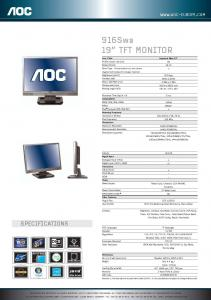Monitor lcd 7 inch