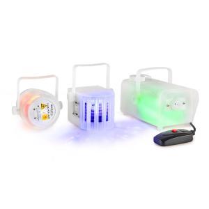 Sistem lumini LED disco Derby-laser-fum Clear Pack Ibiza light
