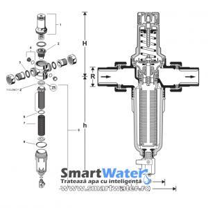 Sistem de Tratarea Apei - Filtrare Apa: Filtru sedimente Honeywell FK06-5/4AA