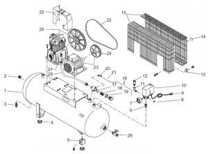 Piese de schimb compresoare aer Fini, Abac, Airmaster