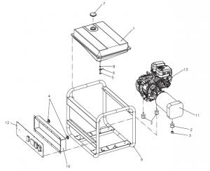 Piese de schimb generatoare de curent Tecnogen, Pramac