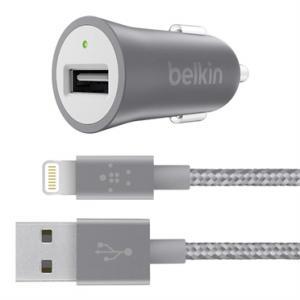 Belkin F8J186BT04-GRY Auto Gri, Alb incarcatoare pentru dispozitive mobile