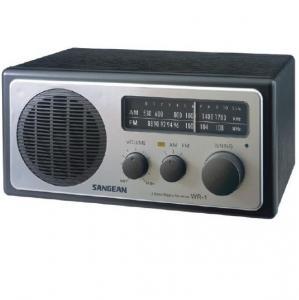Sangean WR-1 Analogue Radio, Silver Portabile Analog radiouri