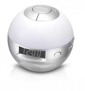 Lenco Wellness clock radio CRW-1 Ceas Analog Argint radiouri