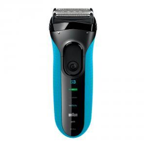 Braun Series 3 3010 Wet & Dry Foil shaver Foarfeca Negru, Albastru aparate de ras pentru barbati