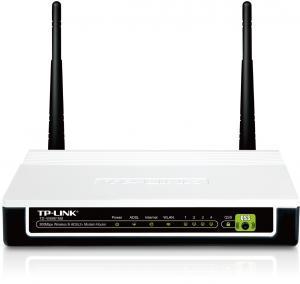 Router wireless TP-Link N 300Mbps ADSL2+ TD-W8961NB Alb - Negru