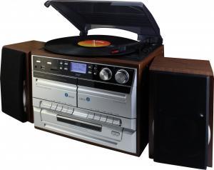 Soundmaster MCD5500DBR Negru, Maro, Argint pick-up-uri audio