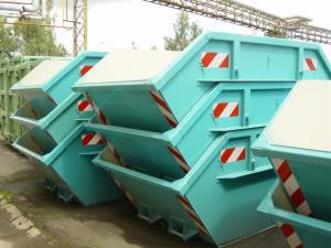 Containere metalice de  transport si depozitare, de 10 mc,  asimetrice , fara capac, grosime tabla 5/3 mm