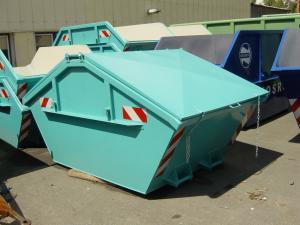 Containere Skip metalice cu capac metalic, simetrice de 10 mc, cu grosimea tablei 5/3 mm