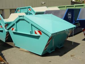 Containere simetrice, cu capac metalic, de 10 mc, cu grosimea tablei de 6/4 mm pentru stocare si transport deseuri