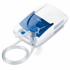 Aparat aerosoli Beurer IH 21 Presiunea de lucru cca. 1,2 bar, Filtru de schimb, Rezervor medicamente, Alb-Albastru