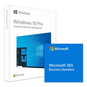Pachet Microsoft Windows 10 Pro, 32/64-bit, Engleza, Retail/FPP, USB + Microsoft 365 Business Standard