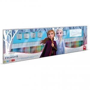 Set pictura 96 piese, 4 stampile, tus, 60 carioci, 30 stickere si caiet cu activitati Frozen 2 Multiprint MP18981
