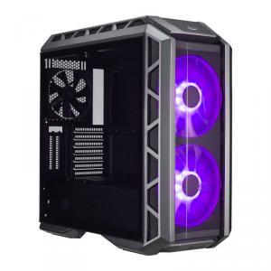 "CARCASA COOLER MASTER. MasterCase.  H500P, tempered glass, mid-tower, E-ATX, 2* 200mm RGB fan (incluse), I/O panel, gun metal/black ""MCM-H500P-MGNN-S00"""