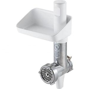 Tocator de carne Bosch MUZ4FW4, Corp principal din aluminiu, Disc din otel inoxidabil (4.5mm), Pentru gama MUM4