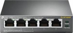 "Poe (Power Over Ethernet) Switch 5 Porturi 10/100m (4 Porturi Poe), Carcasa Metal ""Tl-Sf1005p"""