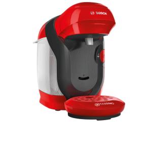 Aparat pentru bauturi calde, Bosch Tassimo Style TAS1103, 1400 W, 0.7L, 3.3 bar, autocuratare si decalcifiere, Rosu