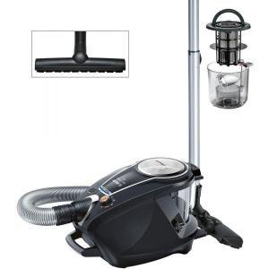 Aspirator fara sac Bosch BGS7MS64, 3 l, Filtru HEPA lavabil, Filtru Inteligent SelfClean System cu autocuratare, Smart Sensor Control Negru