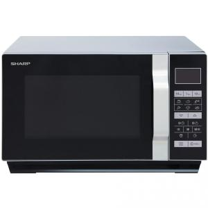 Cuptor cu microunde Sharp R760S, 23 l, 900 W, Digital, Display LCD, Grill, Timer, Argintiu/Negru