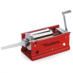 Masina manuala de umplut carnati Reber 8956 N, Capacitate 3kg, 2 viteze, Cilindru inox 304, 4 stuturi de umplere