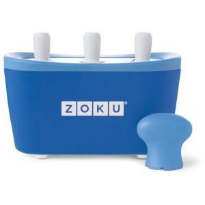 Aparat de inghetata ZOKU Quick Pop Maker ZK101 BL, 3 incinte, 7 minute, nu contine BPA, Albastru