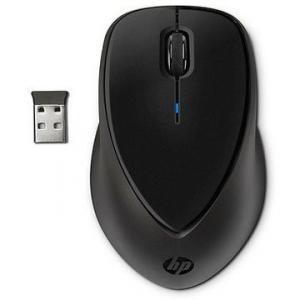 Mouse optic HP Comfort Grip, wireless, interfata USB, greutate 122.5 g, dimensiuni 6.71 x 4.21 x 3.86 cm, culoare neagra