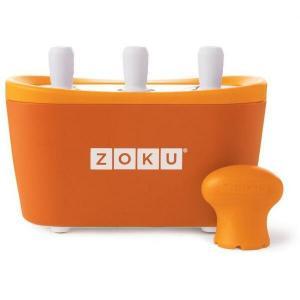 Aparat de inghetata ZOKU Quick Pop Maker ZK101 OR, 3 incinte, 7 minute, nu contine BPA, Portocaliu