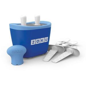 Aparat de inghetata ZOKU Quick Pop Maker ZK107 BL, 2 incinte, 7 minute, nu contine BPA, Albastru