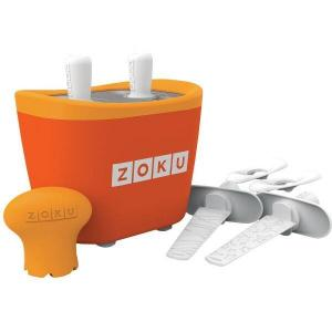 Aparat de inghetata ZOKU Quick Pop Maker ZK107 OR, 2 incinte, 7 minute, nu contine BFA, Portocaliu