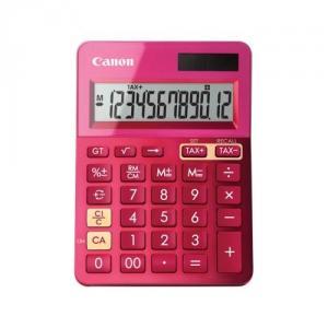 Calculator birou Canon LS123KPK roz, 12 digiti, ribbon, display LCD, functie business, tax si conver