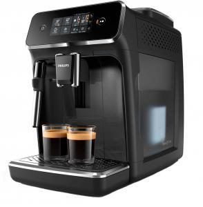 Espressor cafea automat Philips EP2221/40 Series 2000 cu spumant lapte manual, 1.8 l, 15 bari, negru