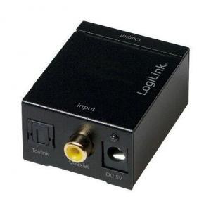 Convertor audio intrare Digital iesire Analogica RCA + jack 3.5mm, alimentator extern 5V , LOGILINK, CA0101