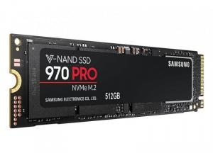 SSD Samsung, 512GB, 970 Pro, retail, NVMe M.2 PCI-E, rata transfer r/w: 3500/2700 mb/s, 80.15 x 22.15 x 2.38 mm, Criptare AES 256-bit