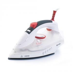 Fier de calcat VITEK VT-1234 2400 W, talpa ceramica, rezervor 220ml, anti-calcar, auto-deconectare, pulverizare, jet aburi 140 g/min, Alb