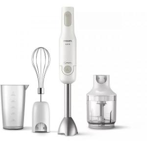Mixer vertical Philips ProMix Daily Collection HR2536/00, 650 W, 1 setare viteza, cana, tocator, tel, Alb