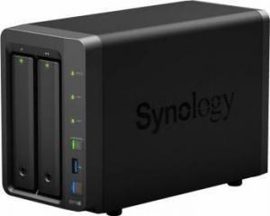 Synology DiskStation DS718+, Procesor Intel Celeron J3455 Quad Core burst up to 2.3 GHz, 2 GB DDR3L, 2-Bay, 2 x Gigabit LAN, 3 x USB 3.0, 1 x eSATA