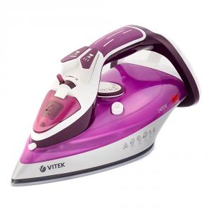 Fier de calcat VITEK VT-1246 2400 W, talpa ceramica UltraCare, rezervor 350ml, autocuratare, anti-calcar, auto-deconectare, pulverizare, jet aburi 140 g/min, Violet