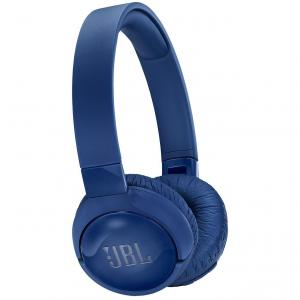 Casti audio On-ear JBL Tune 600, Active Noise Cancelling, Wireless, Bluetooth, Pure Bass Sound, Hands-free Call, 22H, Albastru