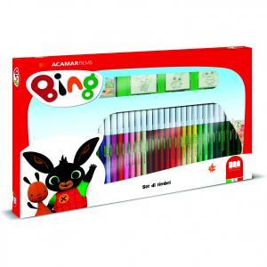 Set pictura 41 piese, 3 stampile, tus, 36 carioci si caiet cu activitati Bing Multiprint MP57987
