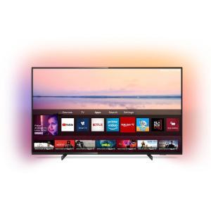 Televizor LED Philips 109 cm, 43PUS6704/12, Ultra HD 4K, Smart TV, Ambilight, WiFi, CI+, Negru