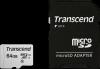 Card de memorie transcend usd300s, microsdxc, 64 gb, 95 mb/s citire,