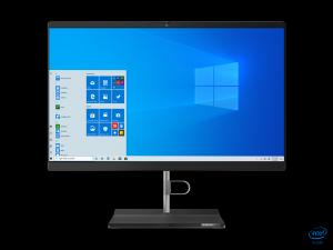 Sistem All in One Lenovo V50a-22IMB 21.5 inch FHD Intel Core i5-10400T 8GB DDR4 256GB SSD Windows 10 Pro Black
