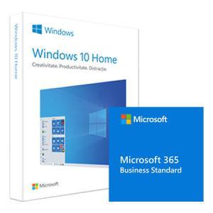 Pachet Microsoft Windows 10 Home, 32/64 bit, Engleza, Retail, USB + Microsoft 365 Business Standard