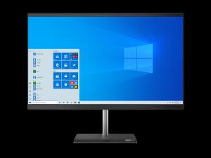 Sistem All in One Lenovo V50a-24IMB 23.8 inch Intel Core i7-10700T 8GB DDR4 256GB SSD DVD-RW Windows 10 Pro Black
