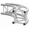 HQ30C400 - Square section 29 cm circle HEAVY truss, tube 50x3mm, 4x FCQ5 included, D.400