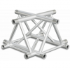 ST40X4UB - 4-way X joint for ST40 Series, tube 50x2mm, 2x FCT5 included, V.Up,BK