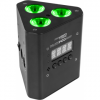 Trusspod3bat - 3x3 w rgb / fc lithium battery led par, ip44, 12 w,