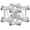 HQ30X4 - 4-way X joint for HQ30 Series, extrude tube 50x3mm, 2x FCQ5 included