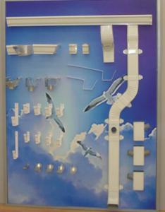 Sistem pluvial din aluminiu